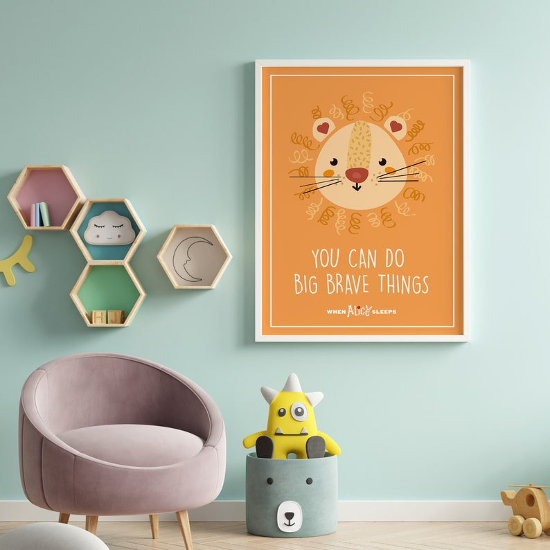 You Can Do Brave Things Wall Print When Alice Sleeps image 0