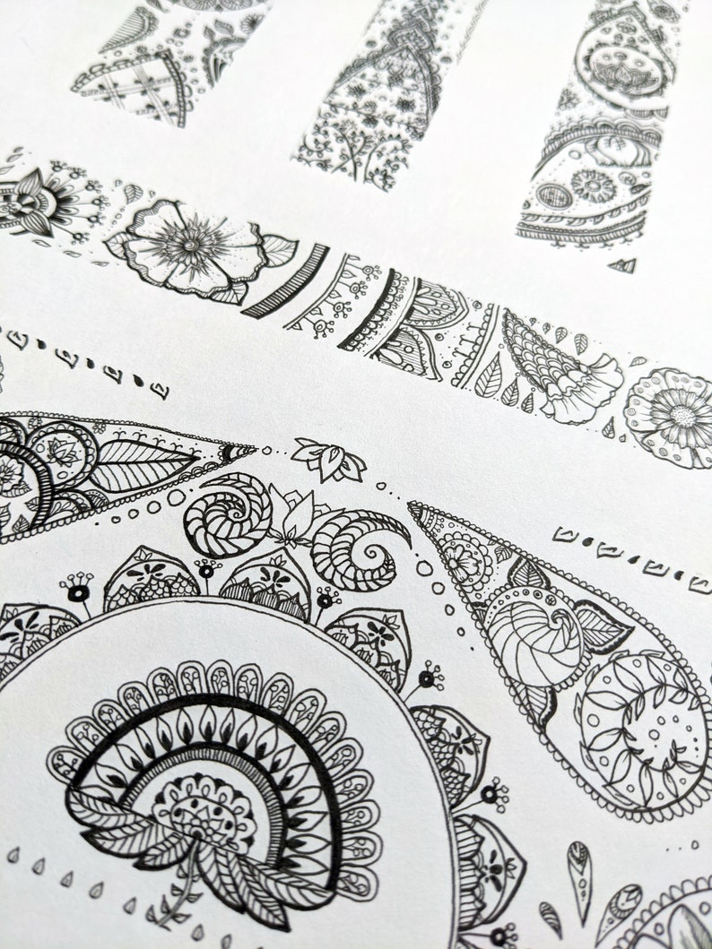 Intricate Pen Drawing with Secret Message image 0