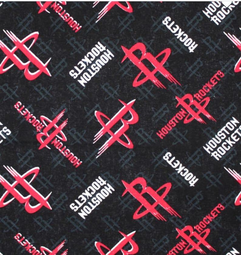 Price per 1 Yard 1 Yard Houston Rockets Cotton Fabric Logo