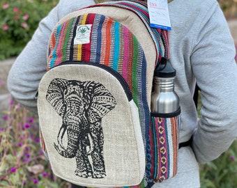 Large Elephant Hemp American Native Design Backpack