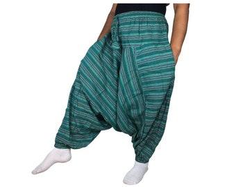 Harem Jumpsuit Jumper Rayon Hippie Aladdin pants Genie pants Drop crotch Yoga Pants Overalls Comfortable Casual Summer Colorful Suspender