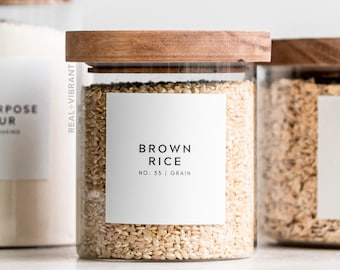 Pantry Labels (Minimal Collection) • Water Resistant • Custom Pantry Labels • Durable
