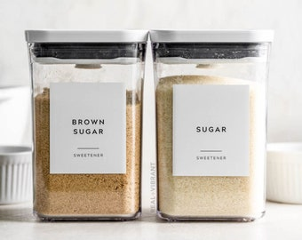 Baking Labels (Contemporary Collection) • Water Resistant • Custom Baking Pantry Labels • Durable