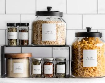 Spice & Pantry Label Bundle (Minimal Collection) • Water Resistant • Durable • Kitchen Organization