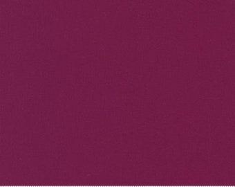 Maroon Cotton, Moda Bella Solids - Boysenberry 9900-217, 100% Quilting Cotton, Sold by Fat Quarter, Half-yard or Yard