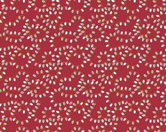 Christmas Lights Red. Quilting Cotton. Holiday Fabric. Riley Blake Fabric. Sold by Half-yard or 1 Yard cuts