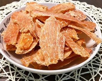 100% Chicken Jerky, Homemade, Grass Fed Ranch Raised, Natural Healthy Dog Cat Training Treats, 8 hours Dehydrated, Vacuum Sealed Freshness