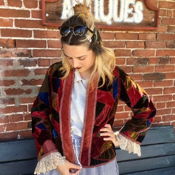 Antique Velvet Patchwork Jacket