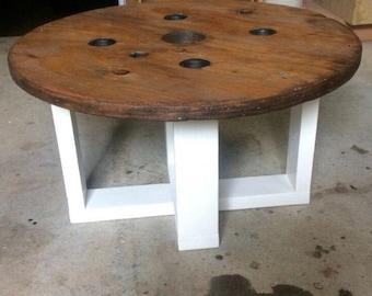 Storage Table End Table Spool Table Nautical Decor Stool Jute Rope Beach House Rustic Decor