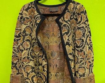 Vintage 60s velvet carpet bag jacket