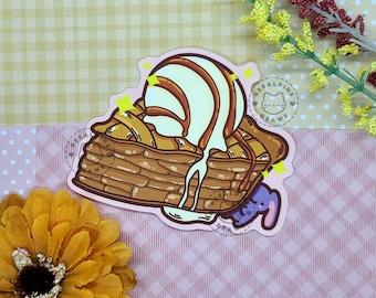 Yummy Apple Pie Ice Cream Sticker | Kawaii Food Art | Vinyl Waterproof Sticker | Apple Pie Fall Desserts Sticker | Matte Laptop Decals