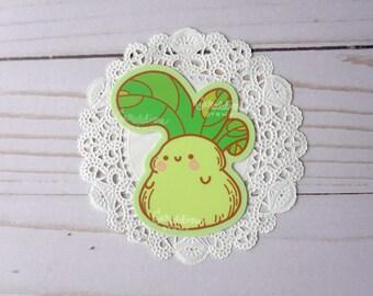 """Chonky Bok Choy Sticker   3"""" Matte Vinyl Sticker   Kawaii Asian Vegetable Sticker   Bok Choy Lovers   Asian Veggie   Kawaii Characters"""