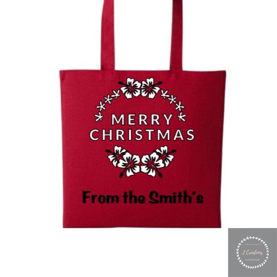 Funny Christmas Gin Bags GIN LOVER Secret Santa GiftsChristmas Gift Xmas Xmas Gin-gerbread Woman Tote Shopper BAG