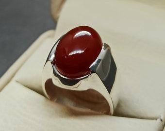Natural Yemeni Black Aqeeq Ring Sterling Silver 925 Black Agate Mens Ring Handmade Carnelian Ring Shifat al Abad Ring Khabadi Aqeeq Ring