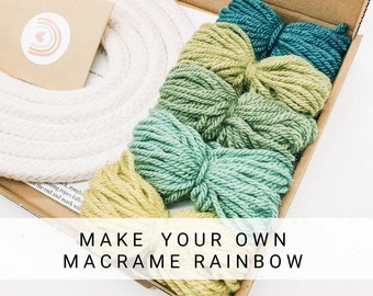 Christmas gift Care package Craft kits Craft kits for adults Macrame rainbow kit