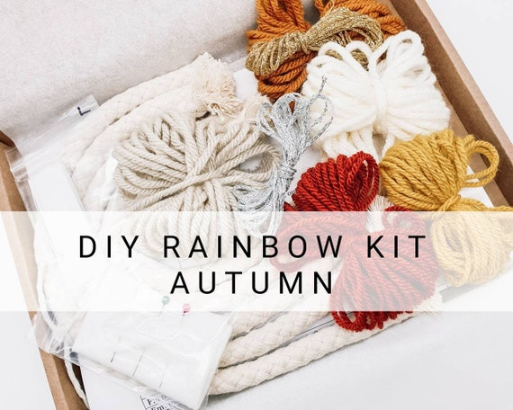 Christmas gift Macrame rainbow kit Craft kits Craft kits for adults Care package