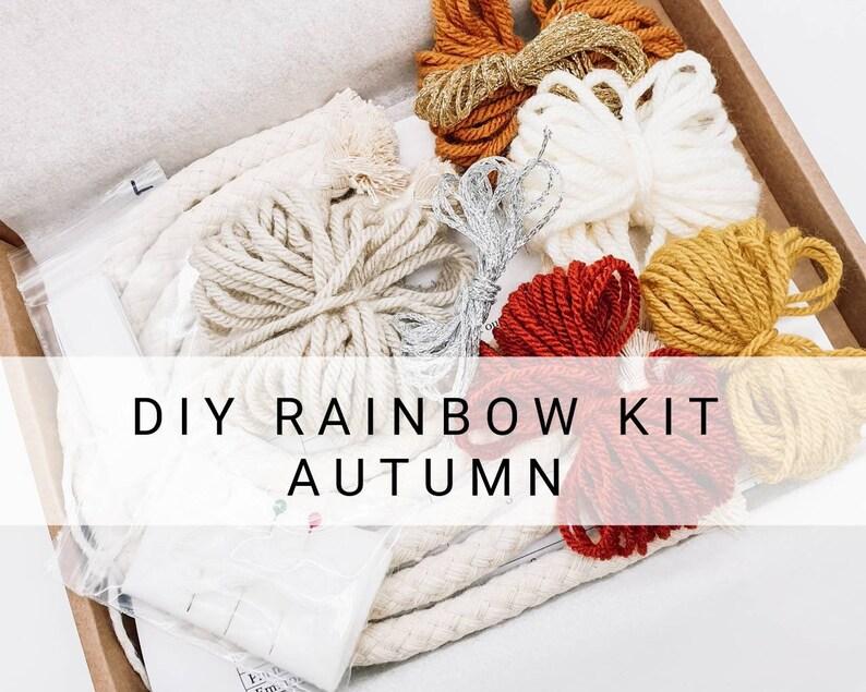 Craft kits  Macrame rainbow kit  Craft kits for adults  image 0