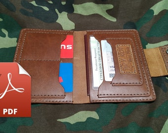 pattern PDF A4,Passport Cover,Leather Passport Holder,wallet for documents