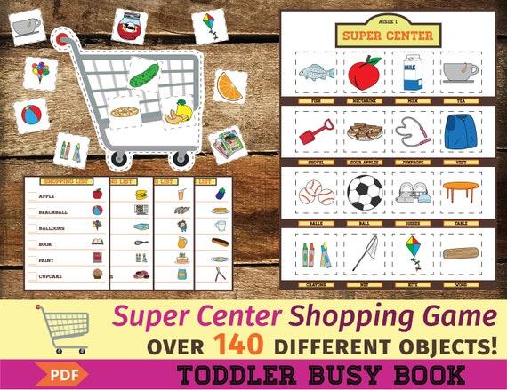 Super Center Busy Book Printable Game Shopping Activity