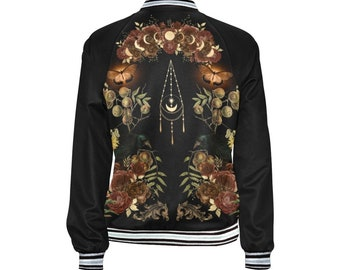 Witchy Samhain Halloween Blessings Fall Jacket #2, Witchy Clothing, Witches Jacket, Witchy Jacket, Hipster Witchy Clothing