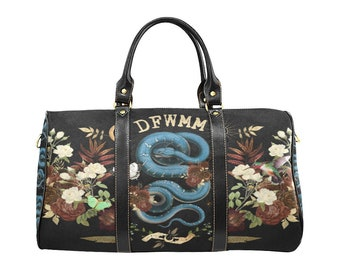 Witchy Serpent Don't F*ck With My Magick Bag, Witchcraft, Witchy Duffel Bag, Witch, Wicca, Healing, Spellwork, Handbag, Weekender Bag