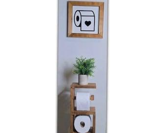 Toilet paper Holder stand. bathroom decor, small bathroom ideas, farmhouse decor, free standing toilet paper holder, rustic,modern farmhouse