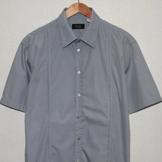 Versace Classic V2 Mens Short Sleeve Shirt Size L… - image 4
