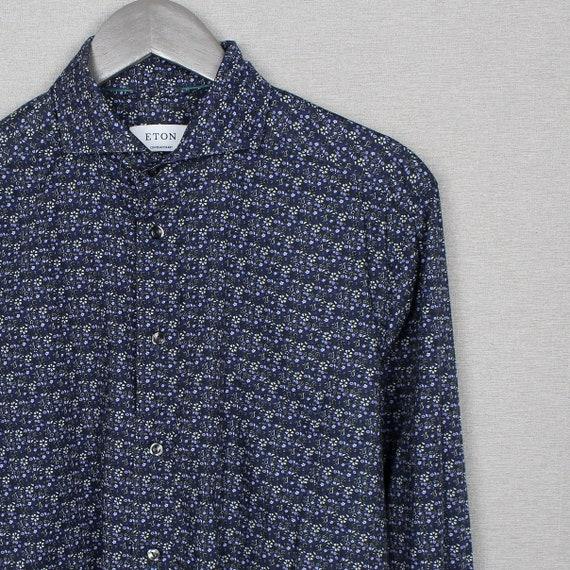 Eton Contemporary Long Sleeve Shirt Size 41 16 L X