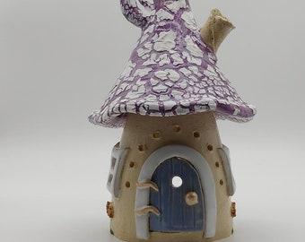 Fairy House Wichtelhaus Elfenhaus Windlight Ceramic Garden
