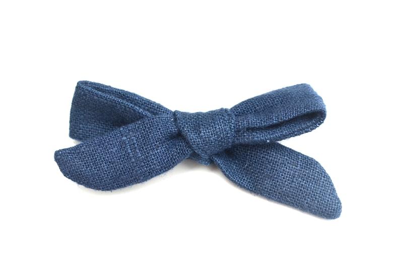 Blue Linen Schoolgirl