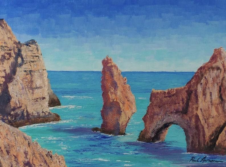 Ponta da Piedade Lagos 2  Paul Acraman Acrylic Painting image 0