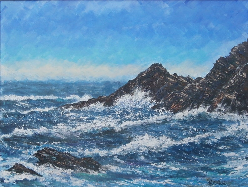 Summer Storm St. Ives  Paul Acraman Acrylic Painting image 0