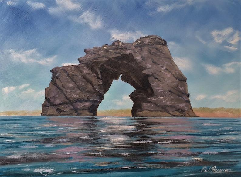 Thurlestone Rock  Paul Acraman Oil Painting image 0
