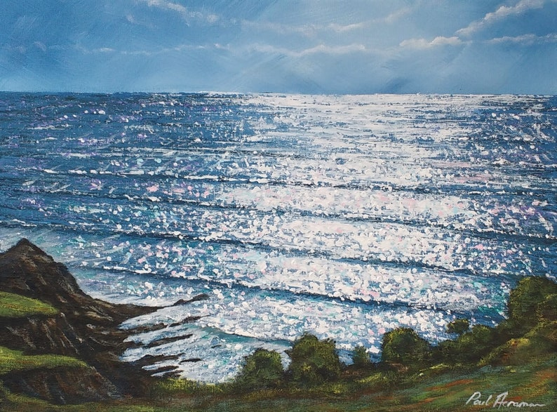 Warren Beach Light  Paul Acraman Acrylic Painting image 0