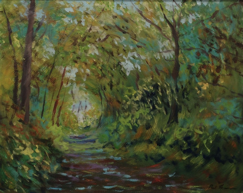Woodland Tunnel  Paul Acraman Oil Painting image 0
