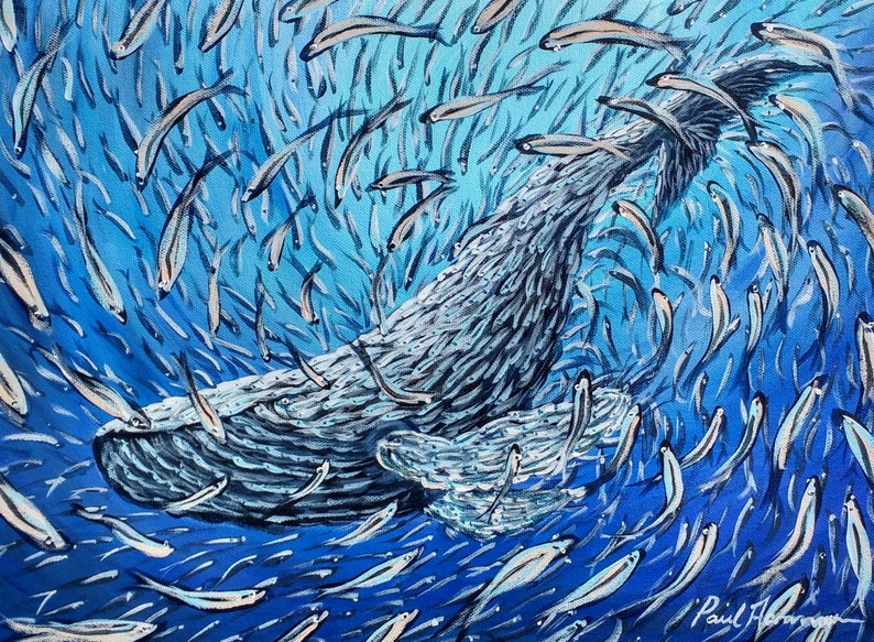 Ocean Dream Blue Whale  Paul Acraman Acrylic Painting image 0