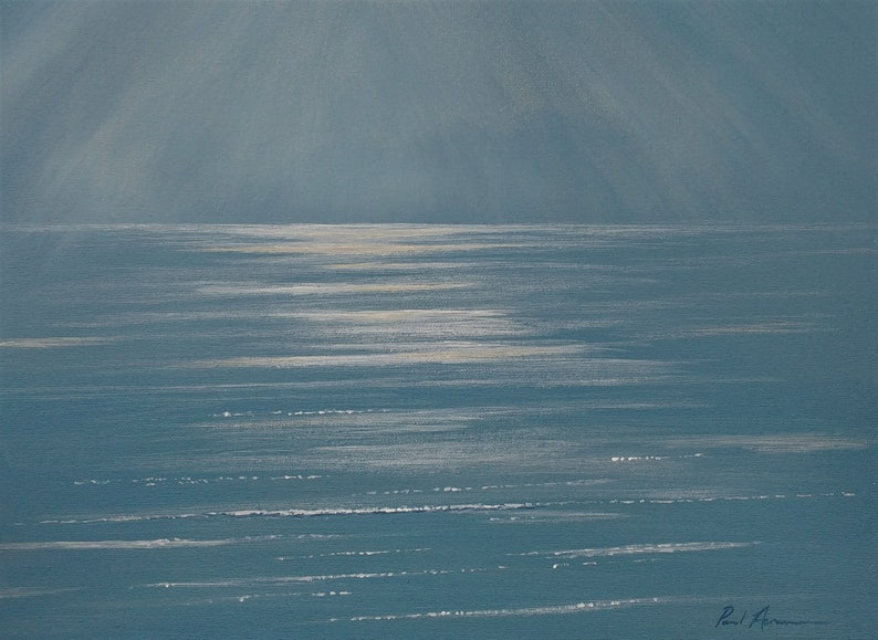 Calming Light Whitsands  Paul Acraman Acrylic Painting image 0