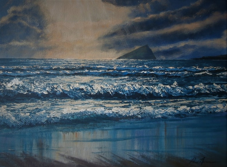 Winter Light Wembury  Paul Acraman Acrylic Painting image 0