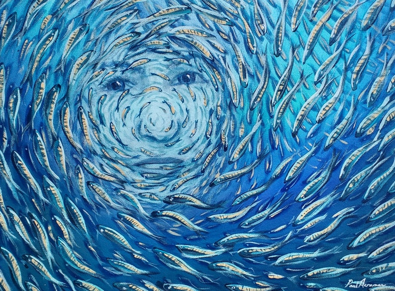Ocean Dream Girl 3   Paul Acraman Acrylic Painting image 0