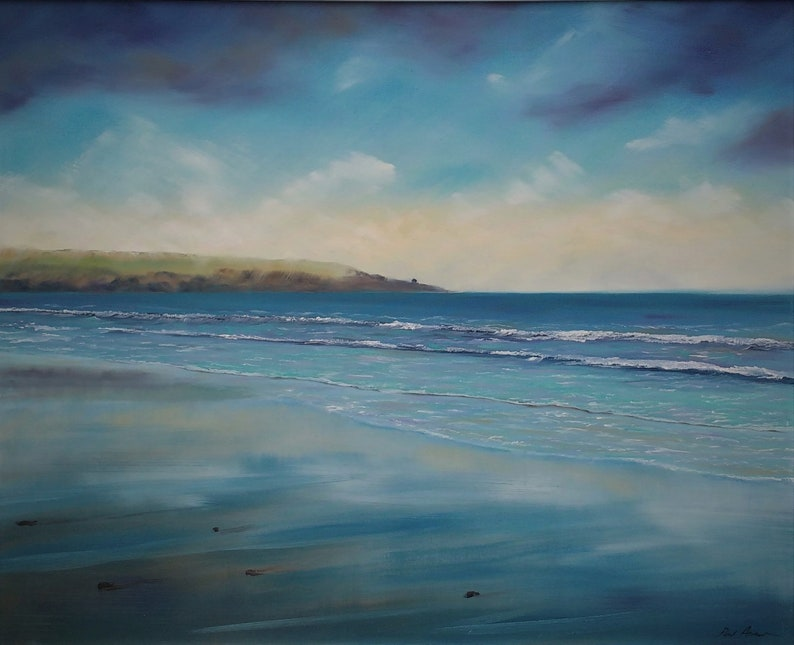 Harlyn Reflections  Paul Acraman Oil Painting image 0
