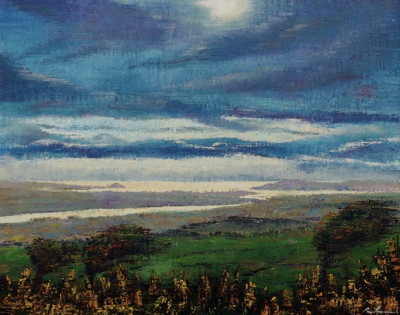 View From Kit Hill  Paul Acraman Oil Painting image 0