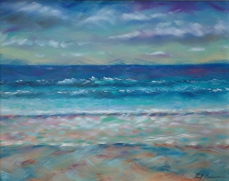 Dappled Beach  Paul Acraman Oil Painting image 0