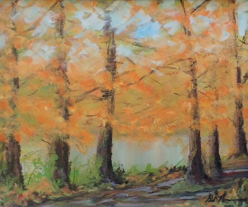 Autumn Saltram  Paul Acraman Acrylic Painting image 0
