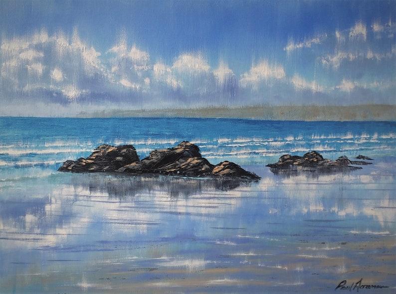Whitsand Bay Intense Light  Paul Acraman Oil Painting image 0