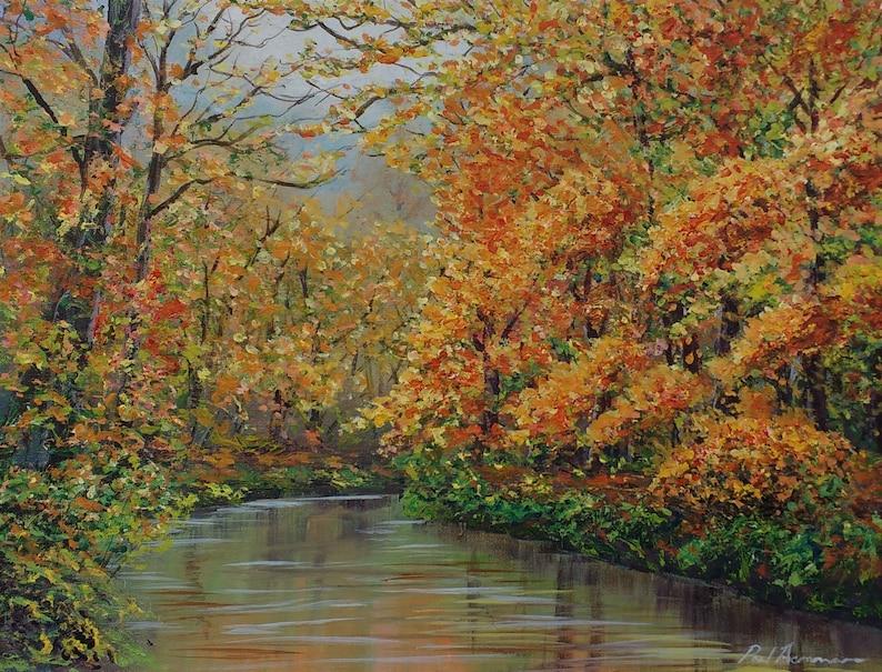 Autumn Glory  Paul Acraman Acrylic Painting image 0