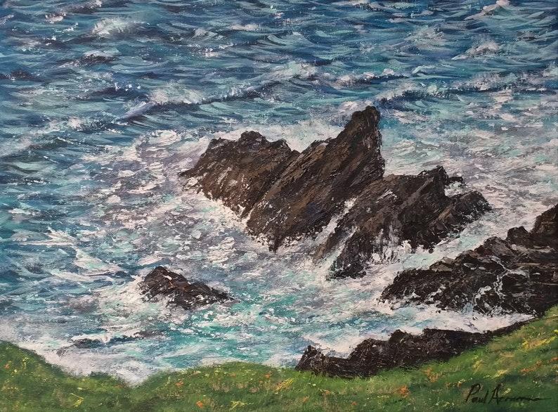 St Ives Rocks  Paul Acraman Acrylic Painting image 0