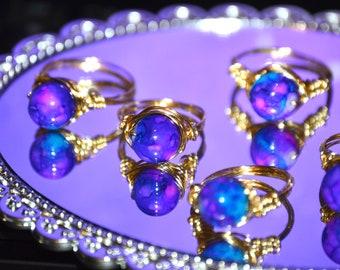 Golden Galaxy Rings