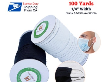 """5 YARDS WHITE ELASTIC STRETCH BAND TRIM 1//4/"""" CORD ROLL SEWING*SAME DAY SHIPPING^"""