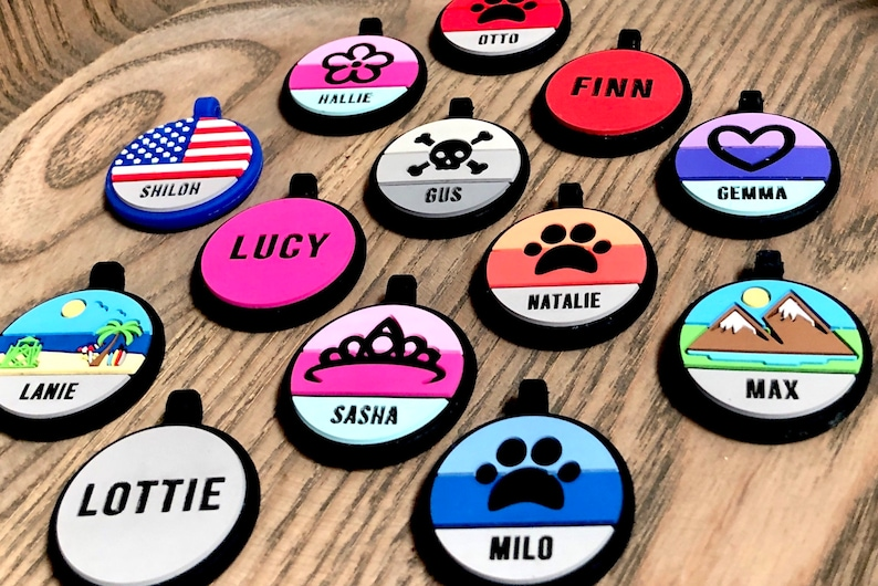 Love Your Pets Soundless Solid Pet ID Tag  Deep Engraved image 4