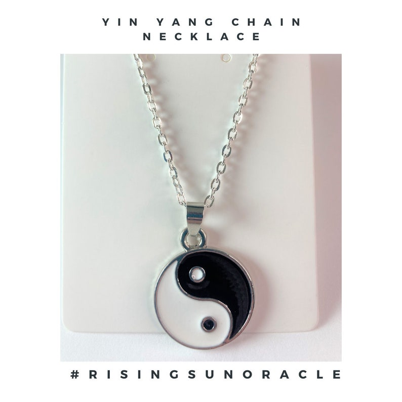 Yin Yang Chain Necklace made by #RisingSunOracle